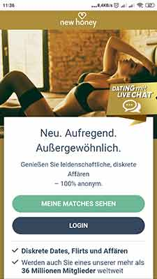 newhoney mobile ansicht