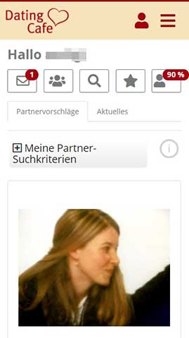DatingCafe die Mobile Ansicht