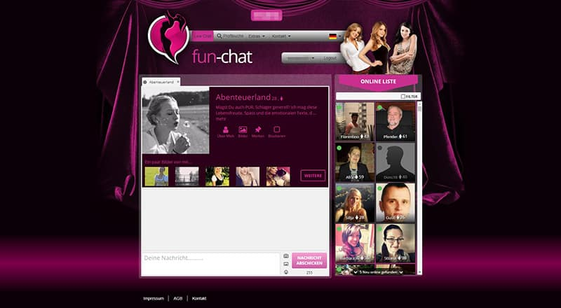 fun-chat das Profil