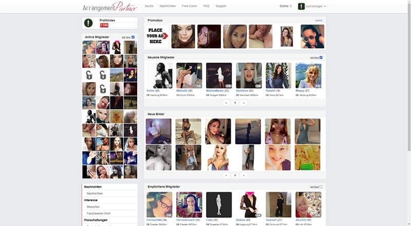 Arrangement-Partner die Profil-Suche