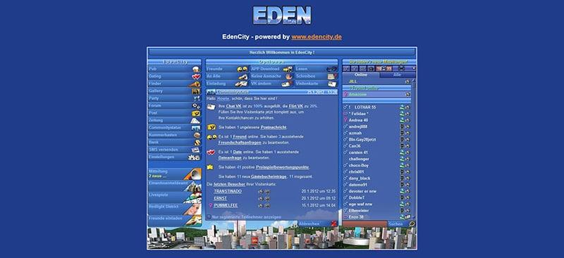 EdenCity der Mitgliederbereich