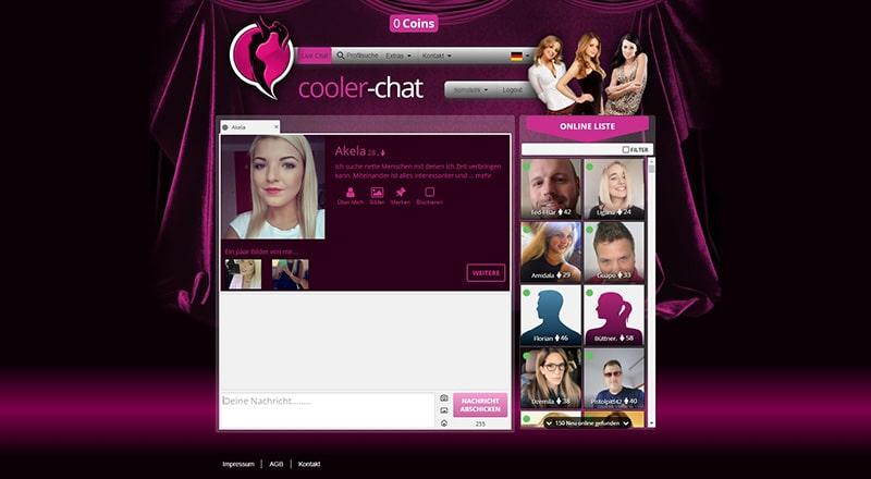 Cooler-Chat das Mitgliederprofil