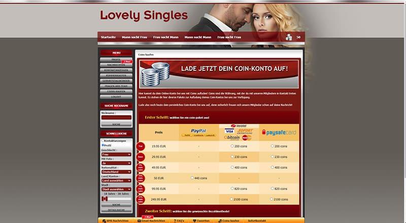 Lovely-Singles die Kosten