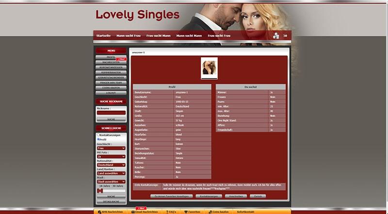 Lovely-Singles das Profil