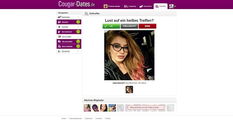 Cougar-Dates das Volltreffer