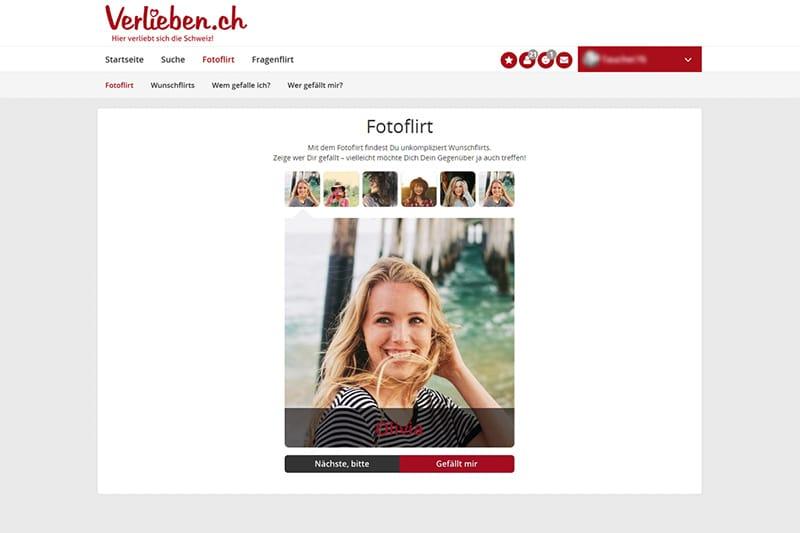 Verlieben.ch der Fotoflirt