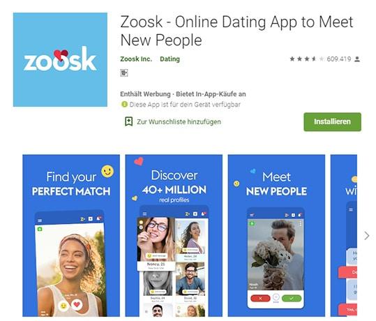 Zoosk die App