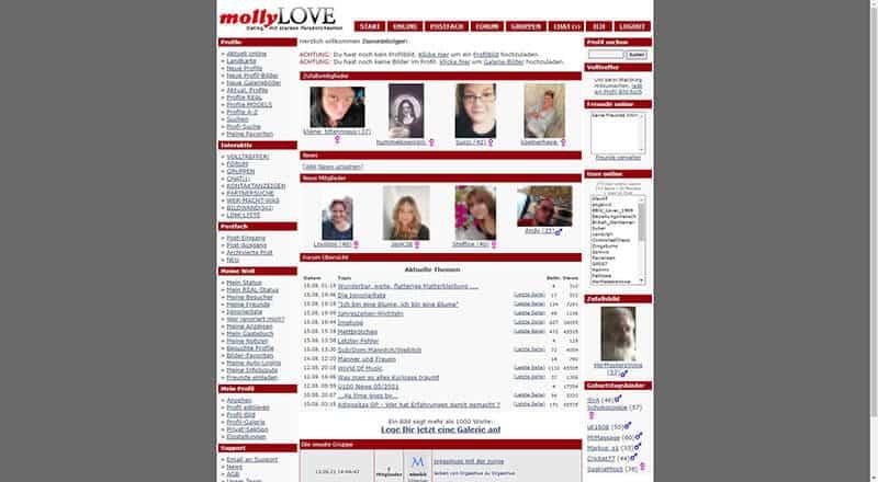 MolliLove der Mitgliederbereich