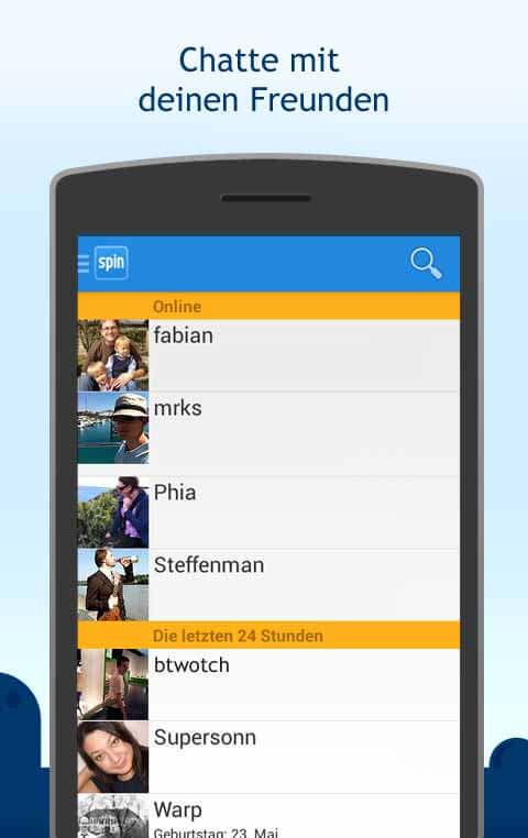 Spin.de die App